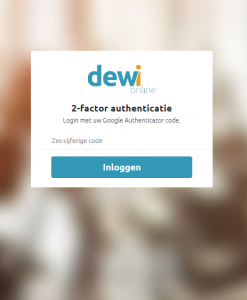 2-factor authenticatie